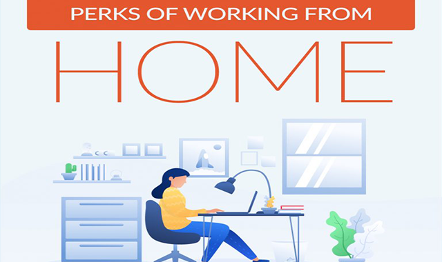 Perks of Working From Home #infographic