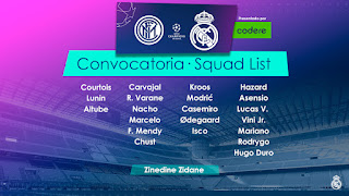 Los Convocados para enfrentar al Inter