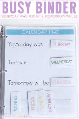 Yesterday Was, Today Is, Tomorrow Will Be Busy Binder
