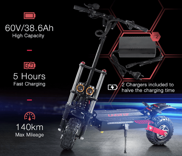 Trotineta electrica off-road 5600w autonomie 140 km viteza 85 Km/h