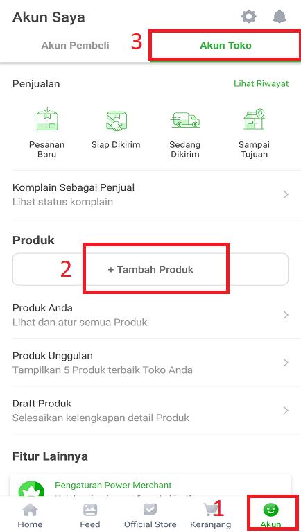 Menambah Produk Jualan di Marketplace Tokopedia Melalui Smartphone.