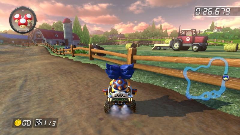 Farm truck Mario Kart 8 Wii Moo Moo Meadows