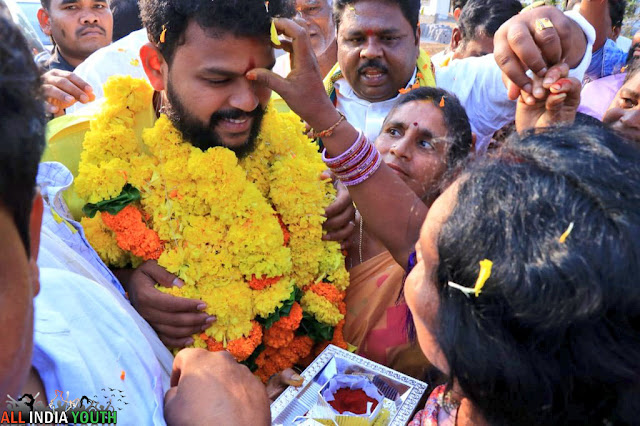 Ram Mohan Naidu gets tilakam on his forehead