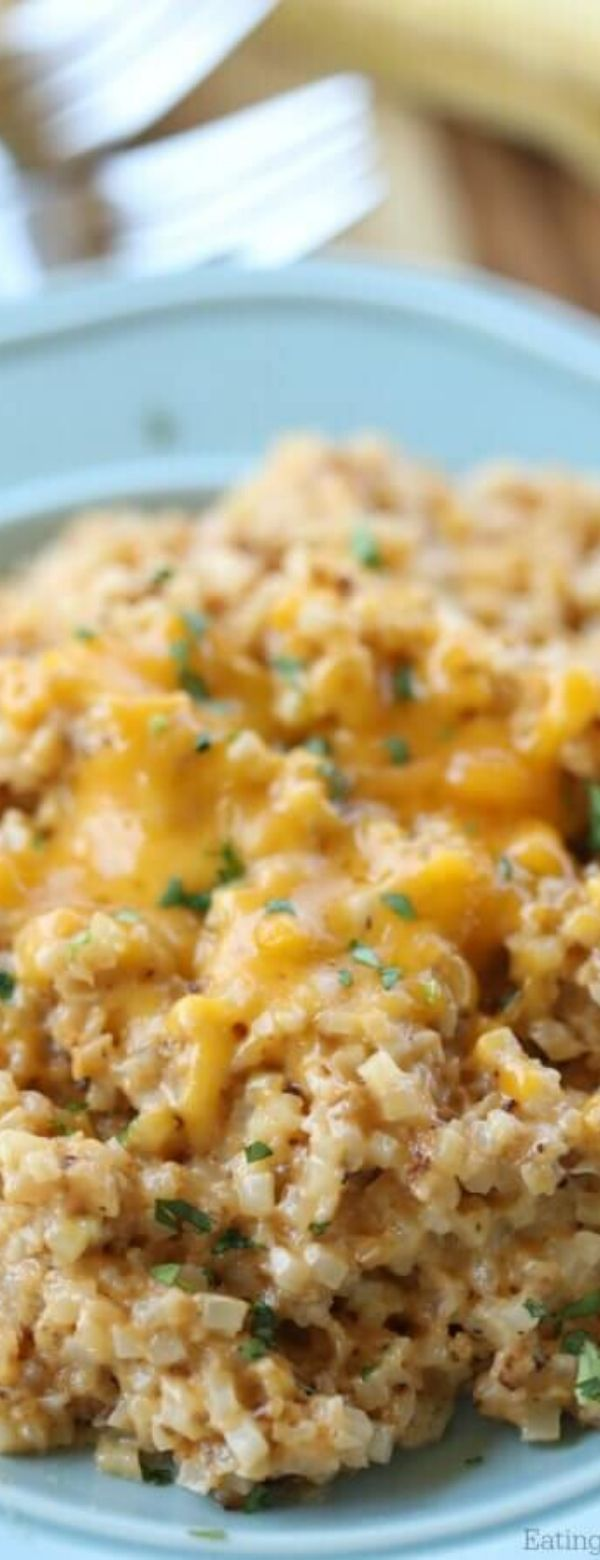Easy Cheesy Cauliflower Rice