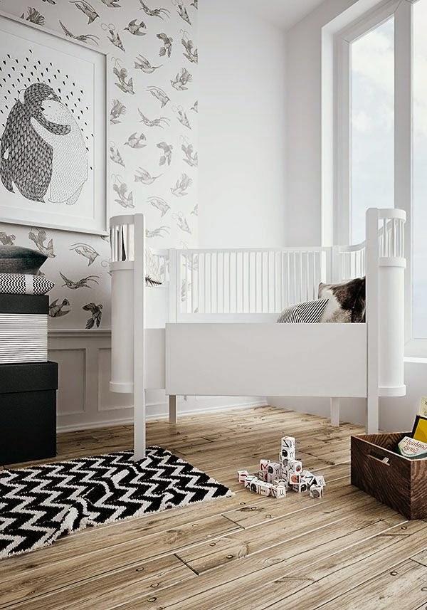 Dormitorios para beb en blanco y gris dormitorios - Alfombra habitacion bebe ...