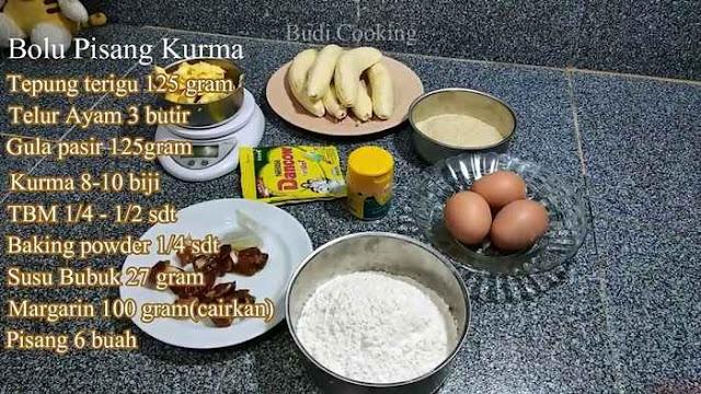 bahan bolu pisang