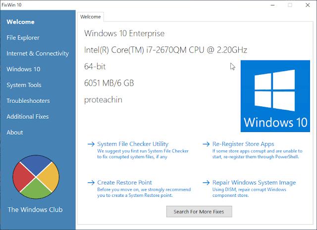 حل جميع مشاكل الويندوز 10 بنقرة زر واحدة مع برنامج FixWin10