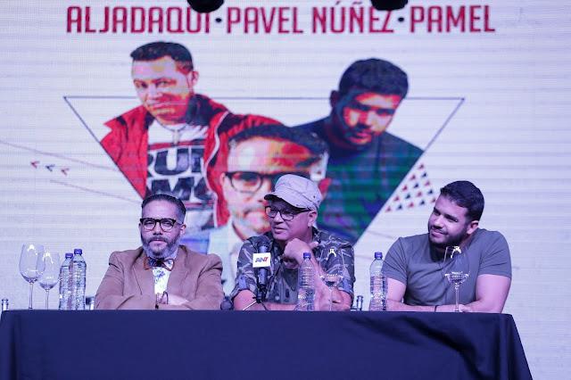 cantantes Pavel Núñez, Pamel Mancebo y Aljadaqui
