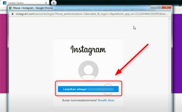 cara menautkan instagram ke creator studio