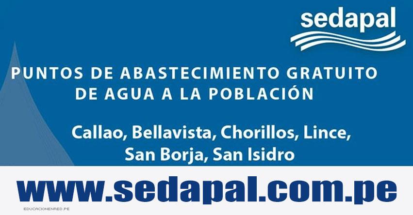 SEDAPAL: Puntos de Distribución Gratuita de Agua en Lima y Callao - www.sedapal.com.pe