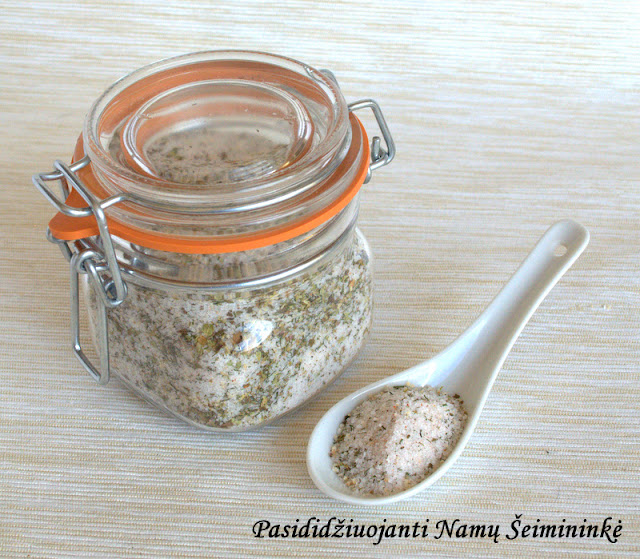 RECEPTAS: Naminė prieskoninė druska