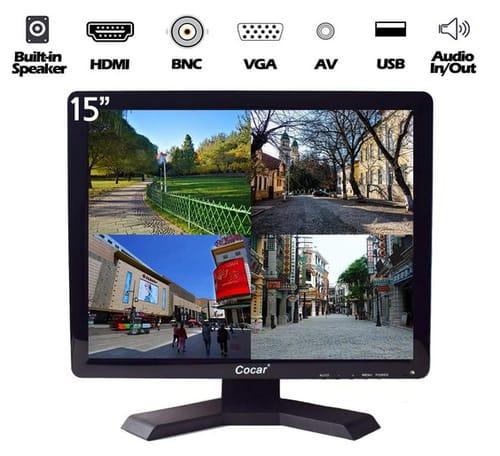 Cocar Professional CCTV HD Display LCD Security Monitor