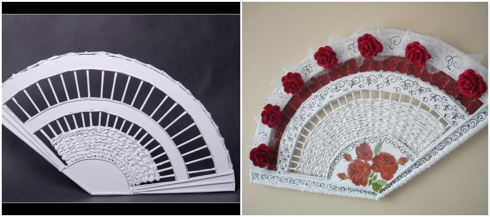 Hermosos adornos para la pared con papel peri dico - Papel para paredes con gotele ...