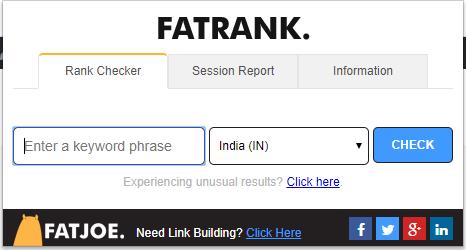 fat rank keyword rank checker