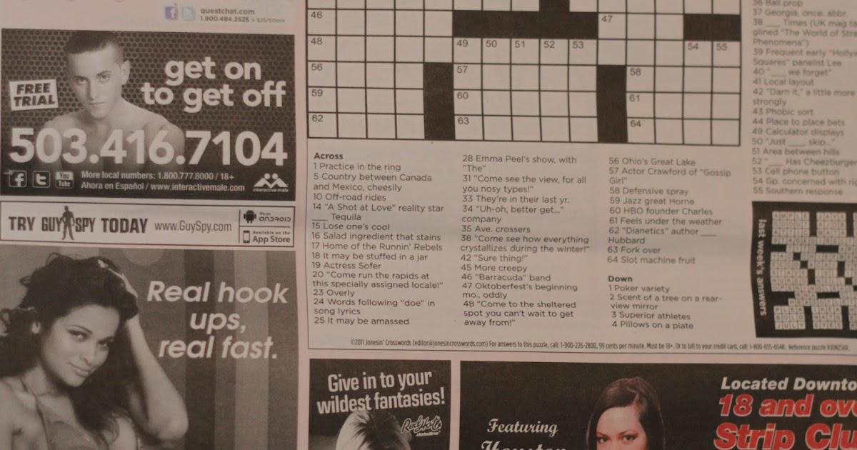 Sex Crossword Puzzle 35