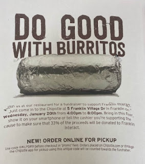 Franklin Interact Fund raiser at Chipotle - Jan 20, 2021