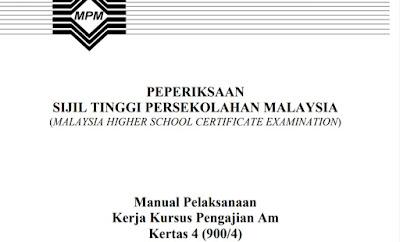 Contoh Tajuk Tema Kerja Kursus Pengajian Am STPM 2020