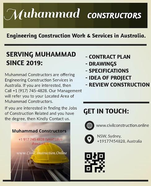 Engineering Construction Services in Dandenong, Australia, Muhammad Constructors - Call +1 (917) 745-4828