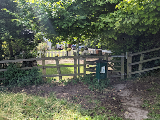 The gate leading to Bury End