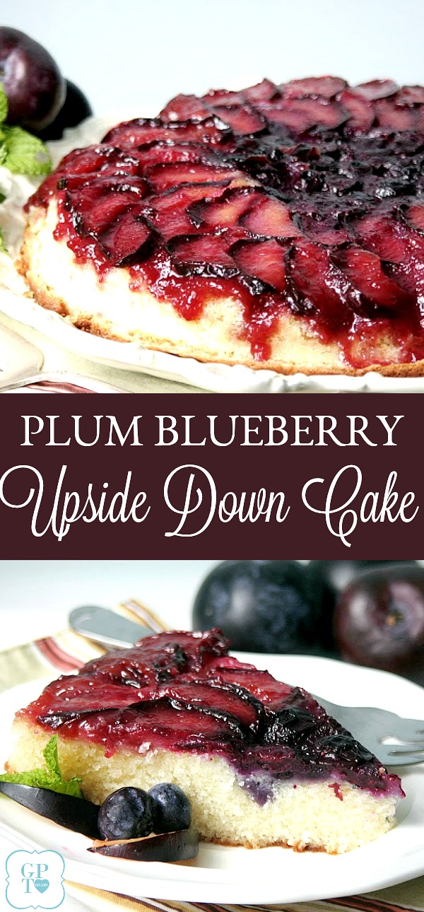 Plum Blueberry Upside Down Cake | Grateful Prayer ...