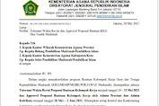Surat Edaran Toleransi Waktu Revisi dan Approval Proposal Bantuan KKG Dan Tendik Madrasah