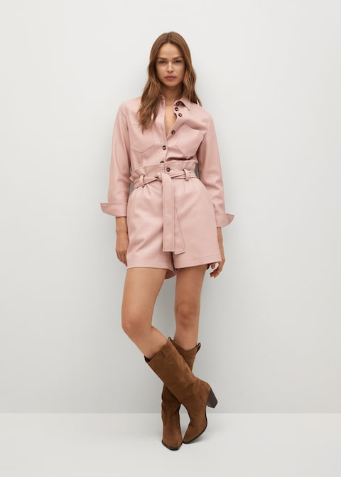 Best Pink Pieces From Mango Jumpsuit Outfit Idea