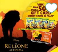 Logo Cereali Nesquik - Il Re Leone: vinci 500 Gift Card Disney Store da 50€