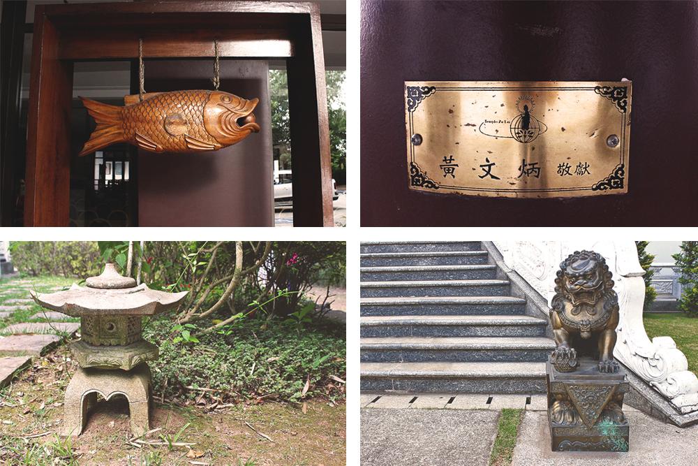 montagem detalhes templo budista