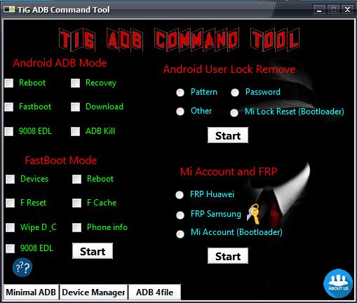 TiG ADB Command Tool Uploder By OMSRS