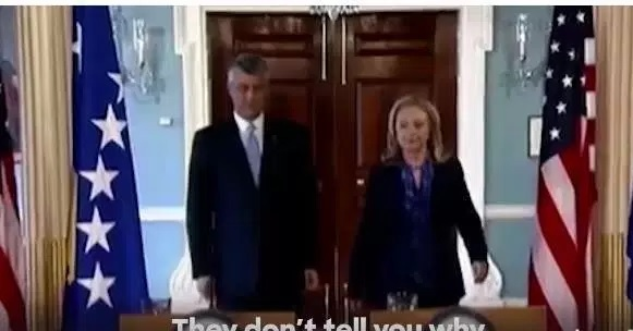 Hillary Clinton includes Thaci in her newes spot