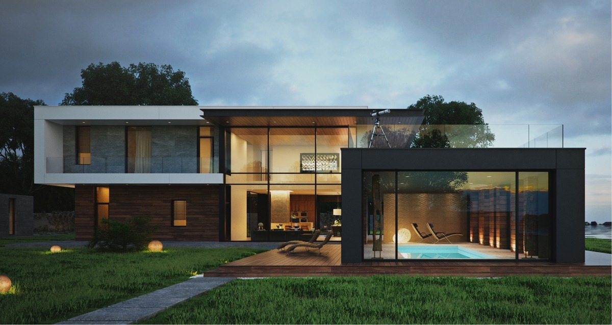 43 Desain Rumah Modern Eksterior Minimalis