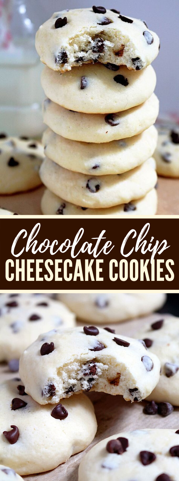 CHOCOLATE CHIP CHEESECAKE COOKIES #desserts #partyrecipe