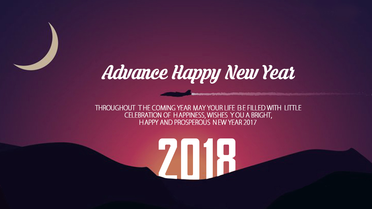 Wish You Happy New Year Message, Wallpapers, Images, Photos, 2018