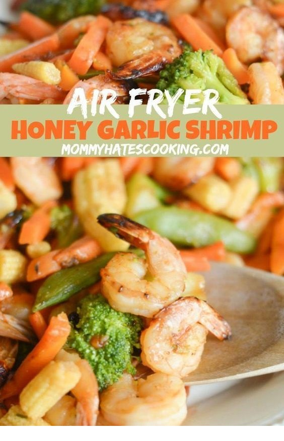 Gluten Free Air Fryer Honey Garlic Shrimp Recipe