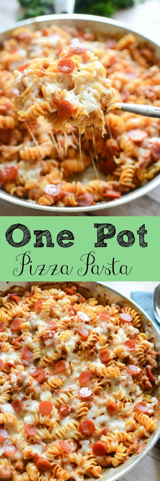 One-Pot Pizza Pasta #onepot #pizza #pasta