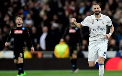 Real Madrid gana al Napoli 3 a 1
