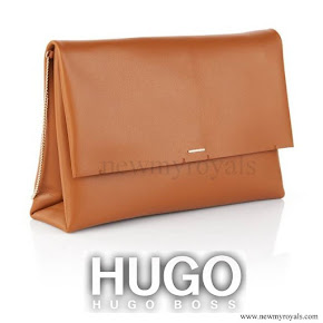 Queen letizia carried Hugo Boss clutch bag