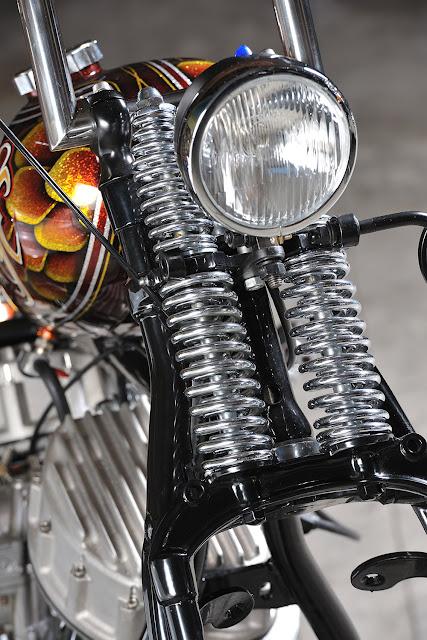 Harley Davidson Panhead 1976 By Boccin Custom Cycles Hell Kustom