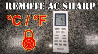 Membuka kunci dan Merubah tampilan suhu remote AC Sharp