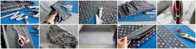 Step-by-Step instructions for sewing a two-layer (double sided) dog blanket with bound edges