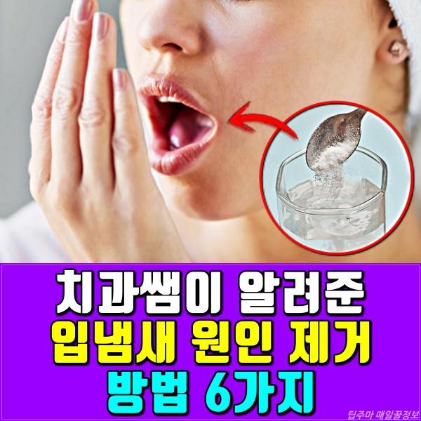 입냄새 원인 제거 방법, 건강, 팁주마 매일꿀정보