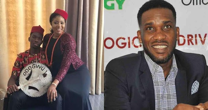 See The War Between Jay Jay Okocha And Kenneth Omoeruo's Wife For Criticizing Her Husband Over Nigeria vs Argentina