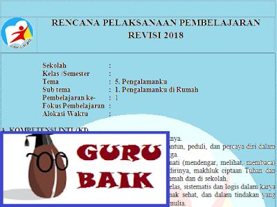 Rpp Kelas 2 Tema 5 Subtema 1 Kurikulum 2013 Revisi 2018
