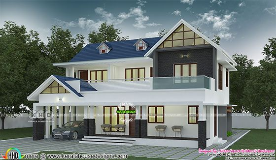 2737 sq-ft 4 bedroom modern house plan