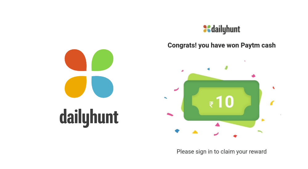 Dailyhunt referral code free paytm cash