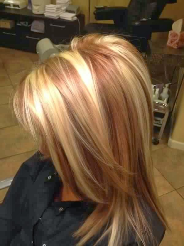 Blonde Hair With Caramel Lowlights 14