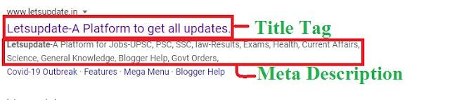title tags and meta description optimization, title tag, meta tag