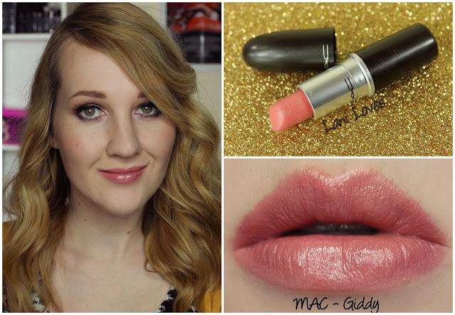 MAC Giddy lipstick swatch