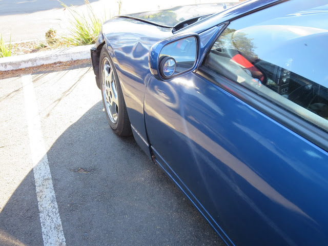 1995 300ZX with collision damage before repairs at Almost Everything Auto Body