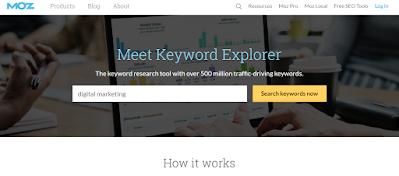 Moz Keyword Explorer for Digital Marketing